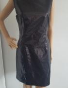 FIGA elegancka czarna sukienka cekiny 42...