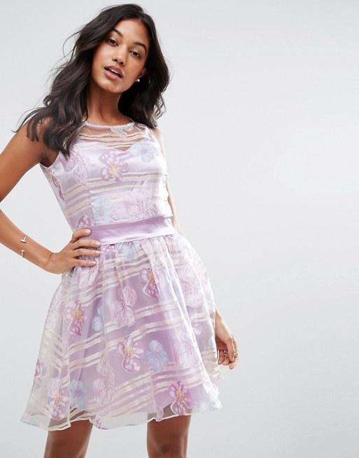 Suknie i sukienki ZIBI LONDON Piękna sukienka organza XL 42 NOWA