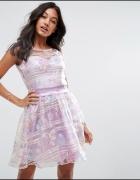 ZIBI LONDON Piękna sukienka organza XL 42 NOWA