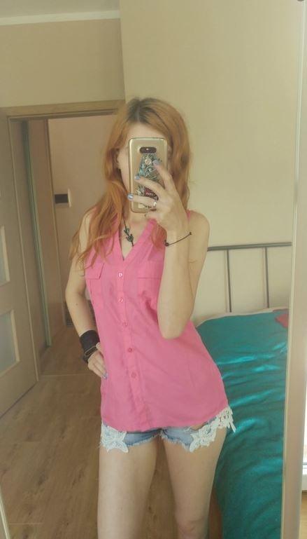 Różowa elegancka koszula kamizelka bez rękawów