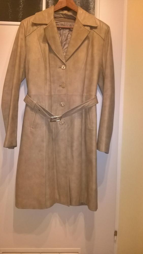 2dcbebc1d6e50 Skórzany płaszcz skóra naturalna r 42 w Odzież wierzchnia - Szafa.pl