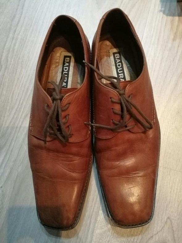 Skórzane męskie buty Ottimo i Badura...