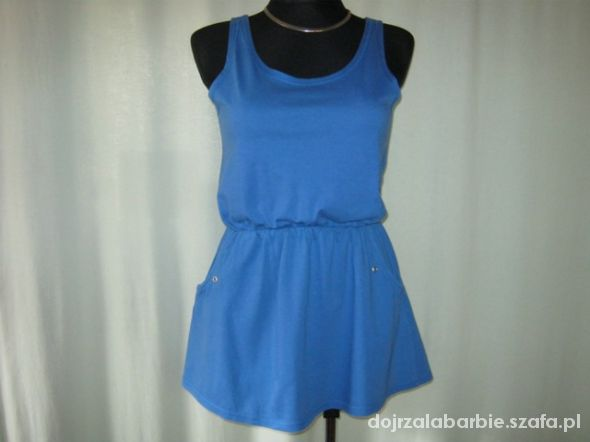 kobaltowa sukienka Next 10
