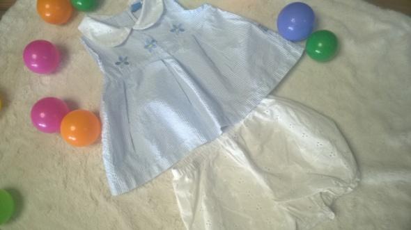 r 86 92 Komplet niebieska sukienka i gatki