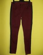 Spodnie rurki jeans skórzane wstawki GEORGE 38 40...