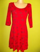Sukienka rozkloszowana w kwiaty Atmosphere 38...