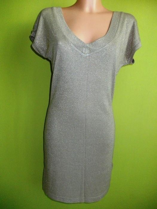 Sukienka tunika złota ołówkowa Warehouse 34 36 38...