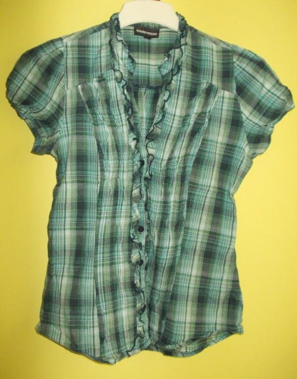 Koszula w kratkę z falbanką WAREHOUSE38 40...