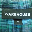 Koszula w kratkę z falbanką WAREHOUSE38 40