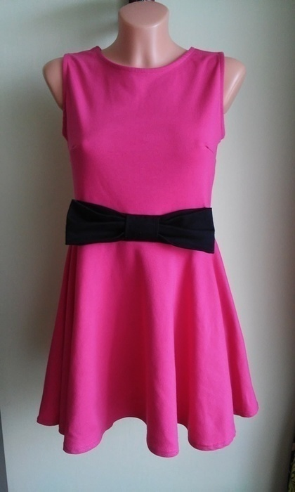 Sukienka rozkloszowana z kokardą New Look 38 40...