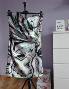 sukienka kolorowa koktajlowa mozaika wzorki L 40...