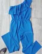 elegancki kombinezon niebieski kobaltowy długi 38...