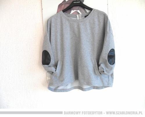 Super oversize bluza kieszenie łaty