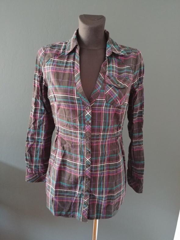 Koszule Koszula w kratę z długim rękawem
