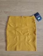 Musztardowa spódnica z suwakiem...