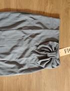Szara spódnica z kokardą Figl...