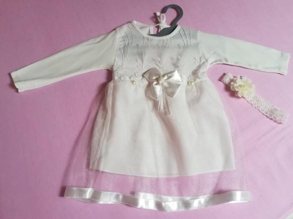 Nowa delikatna sukieneczka do Chrztu w kolorze ecri