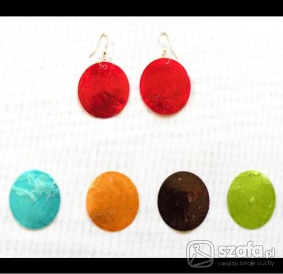 Kolczyki koła masa perłowa w różnych kolorach