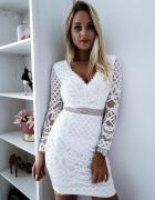biała sukienka uniwersalna panieński ślub wesele impreza