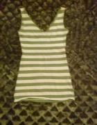 Top w zielono białe paski...