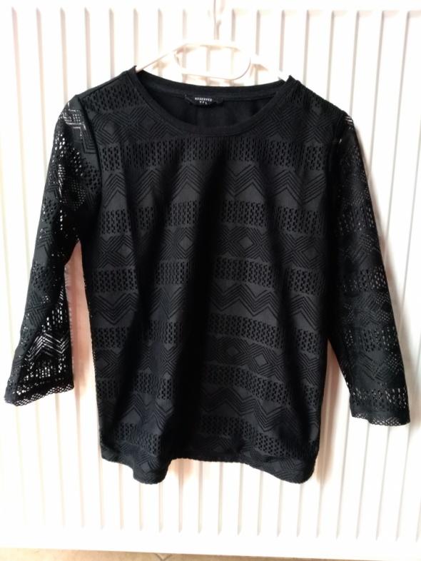 Czarna koronkowa bluzka S...