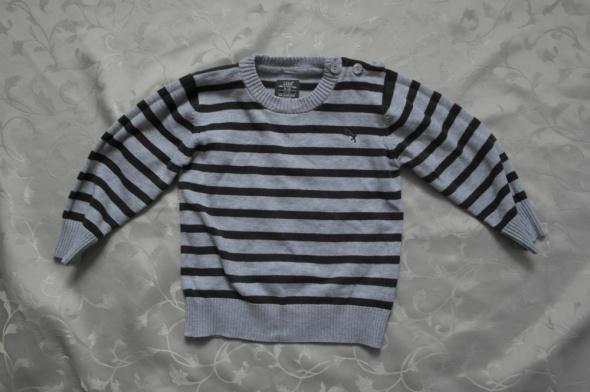 Sweterek w paski H&M 86 plus gratis
