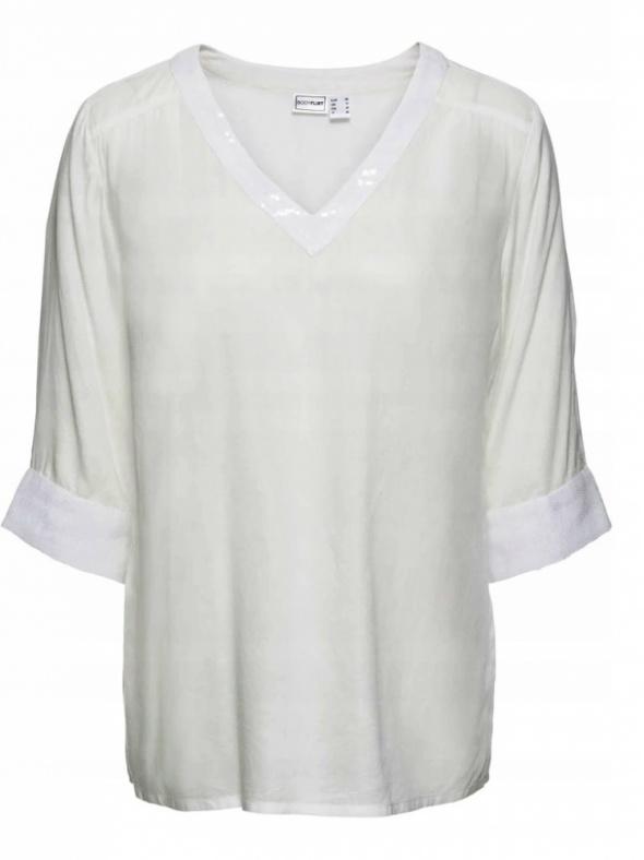 Biała bluzka z cekinami elegancka...