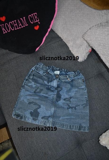 Spódniczka Next 116cm moro jeans