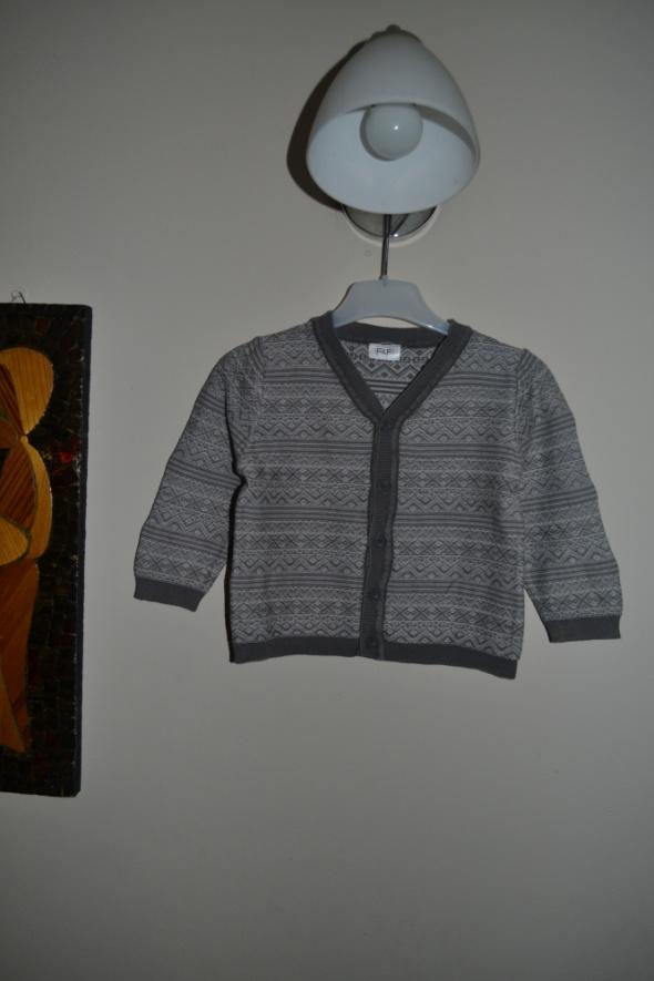 F&F sweterek aztecki szary 12 18 mc 80cm 86cm