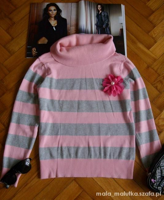 Szaro morelowy sweter...