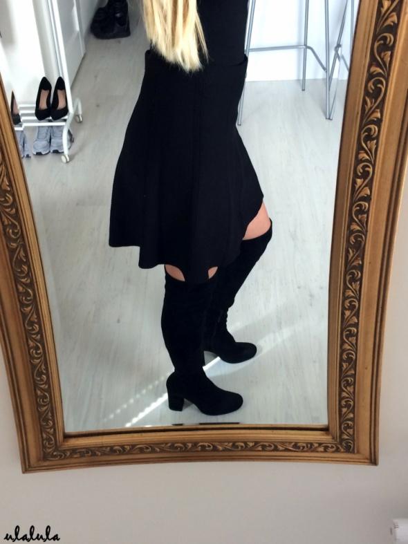 Zara rozkloszowana spódniczka skater dzianinowa z wysokim stanem jesień classy elegant autumn tumblr