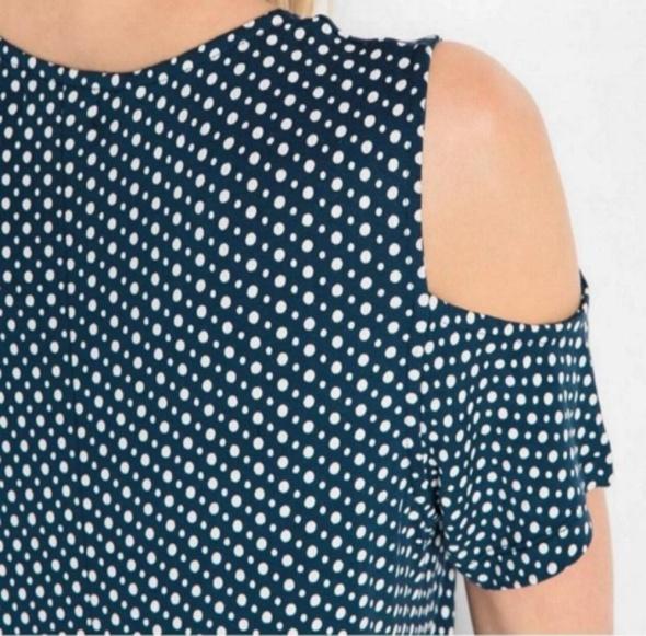Granatowa w kropeczki sukienka na lato r 44...