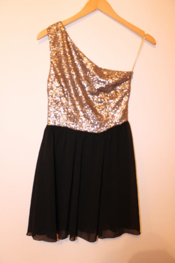 Sukienka złota czarna missguided 36