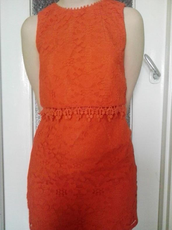 pomarańczowa sukienka topshop...