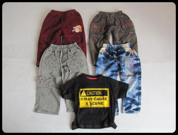 Spodnie 4 pary 2 3 lata rozmiar 98 i 104 i gratis