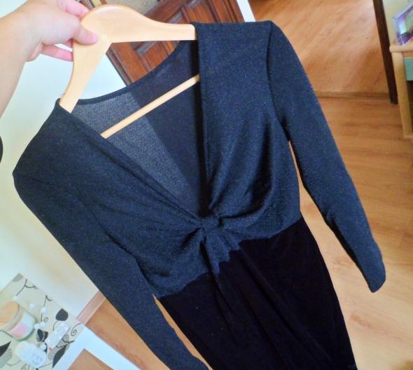 Kombinezony Czarny długi kombinezon elegancki ze splotem welurowe spodnie z długim rękawem