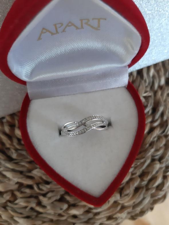 APART białe złoto diamenty pierścionek rozmiar 11