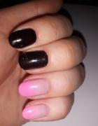 Czarno różowe