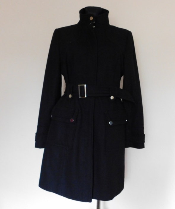 Savida czarny płaszcz midi 42...