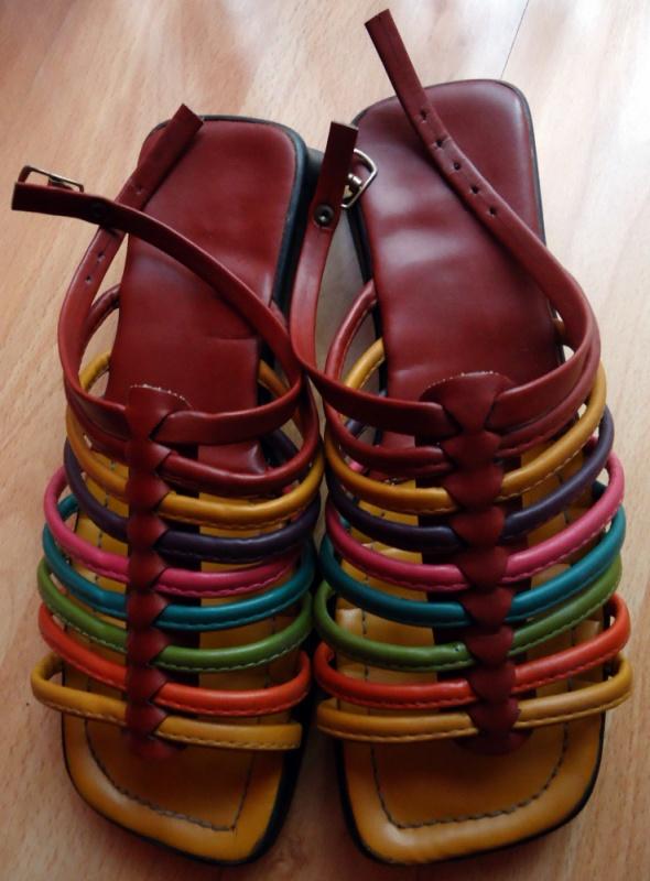 Sandały Sandałki rzymianki gladiatorki kolorowe paski