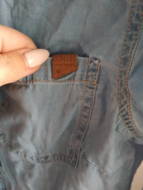 Koszula jeansowa SINSAY S błękitna jasna...