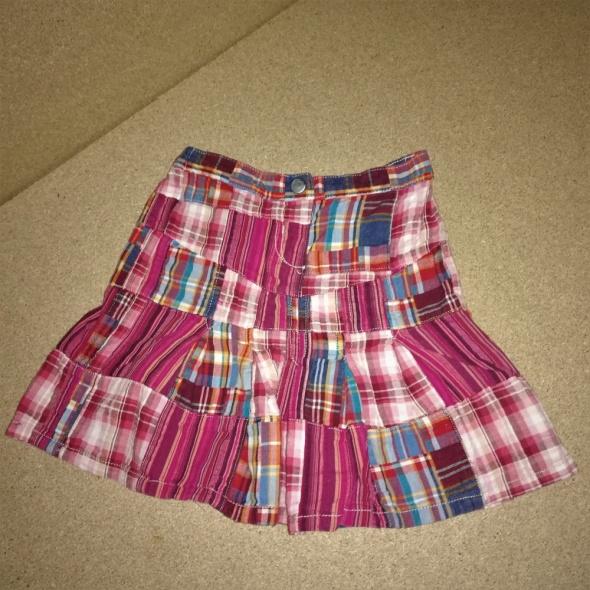 Next Różowa rozkloszowana spódnica w kratę 92 cm 15 2 lata