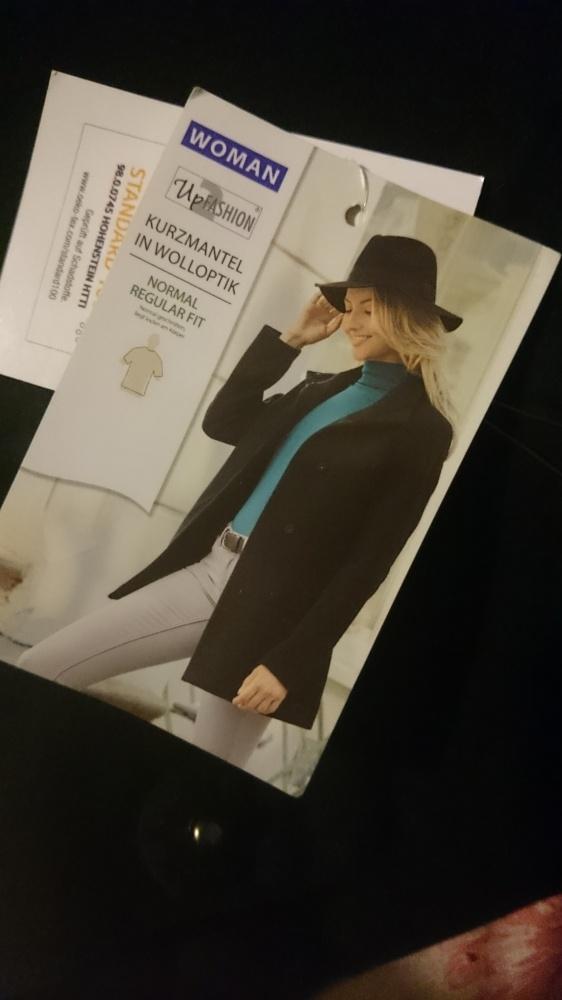Elegancki krótki płaszcz damski czarny M NOWY
