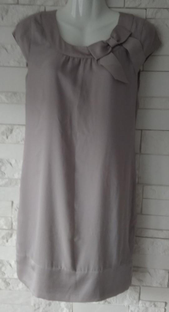 Beżowa sukienka z kokardą H&M xxs XS
