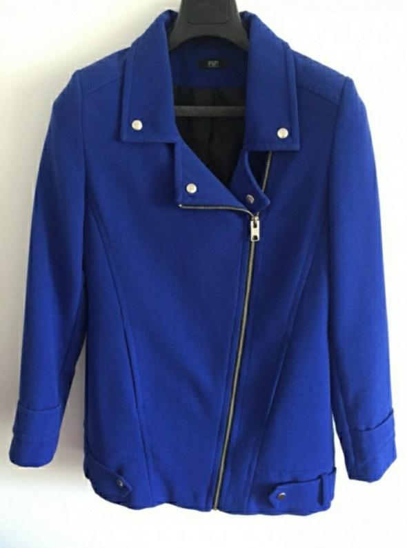 Odzież wierzchnia Kobaltowy płaszcz wiosenny