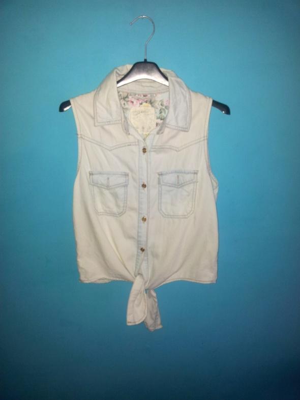 Dżinsowa koszula bez rękawów Denim CO 38...