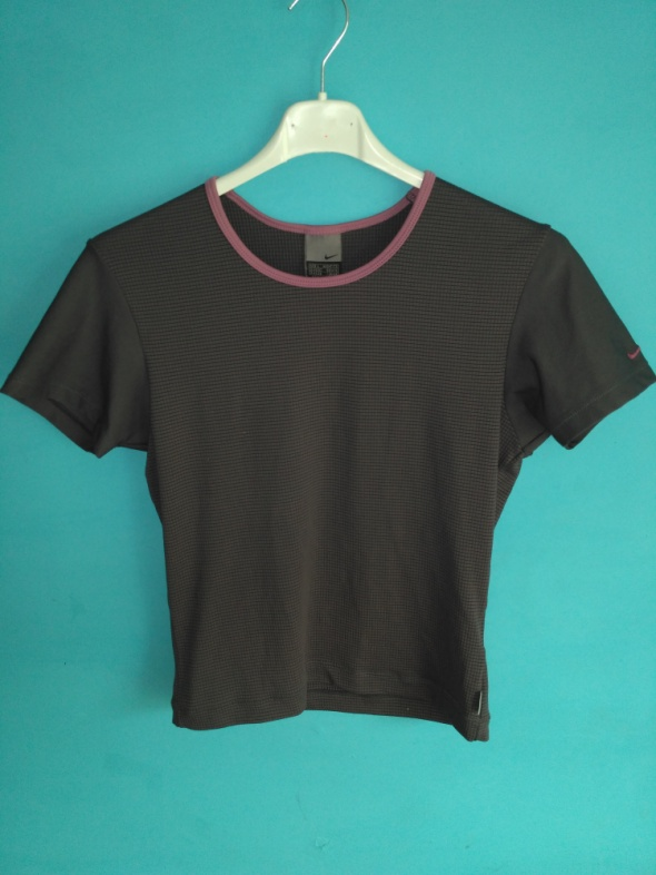 Popielata koszulka sportowa Nike L...