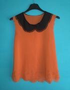 Pomarańczowa bluzka bez rękawów M...
