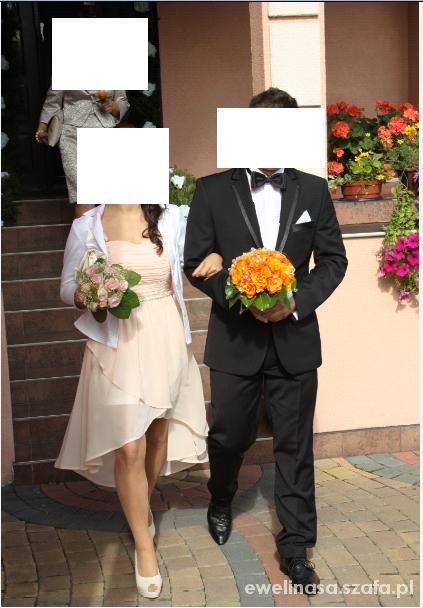 Garnitury ślubne GARNITUR ŚLUBNY KOSZULA BIAŁA MUSZKA