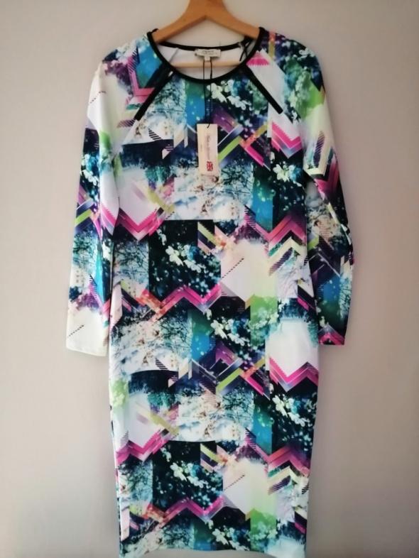 Nowa oryginalna dopasowana sukienka Papaya 42 XL